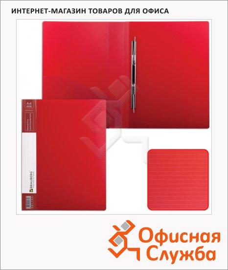 фото: Скоросшиватель пластиковый Brauberg Contract красный А4
