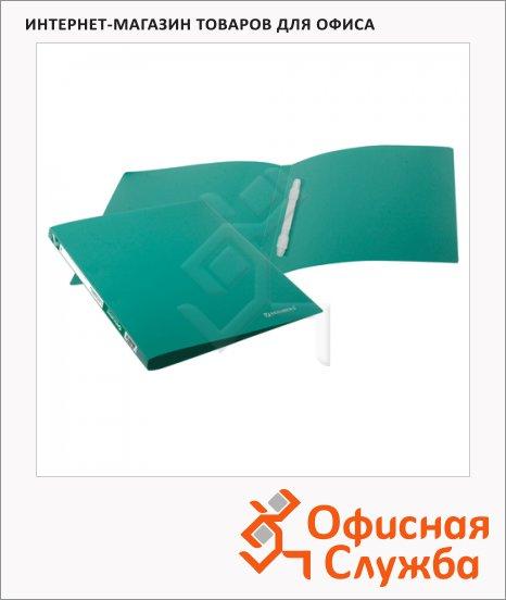 Скоросшиватель пластиковый Brauberg Бюджет зеленый, А4