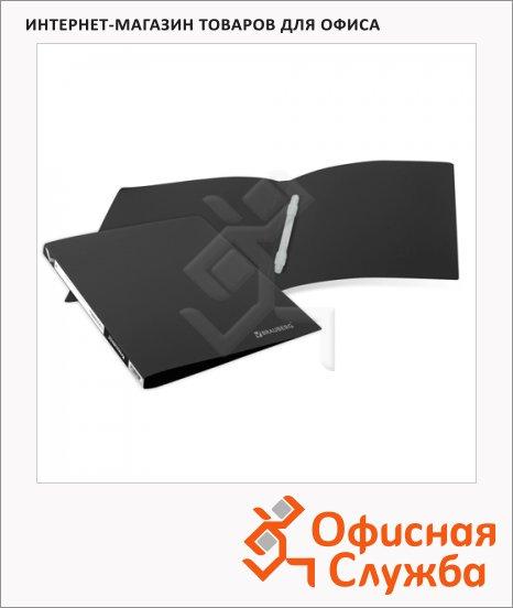 фото: Скоросшиватель пластиковый Brauberg Бюджет черный А4