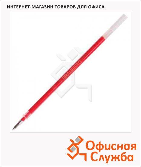 Стержень для гелевой ручки Brauberg красный, 0.5мм, 130мм, 170168, евронаконечник