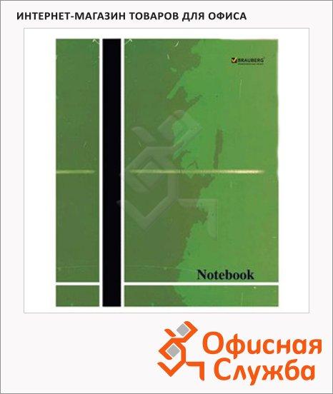 Тетрадь общая Brauberg Notebook, А5, 96 листов, в клетку, на скрепке, мелованный картон