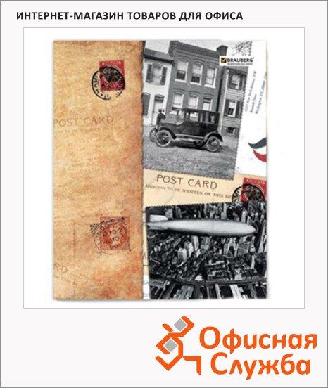 Тетрадь общая Brauberg Страны, А5, 96 листов, в клетку, на скрепке, мелованный картон