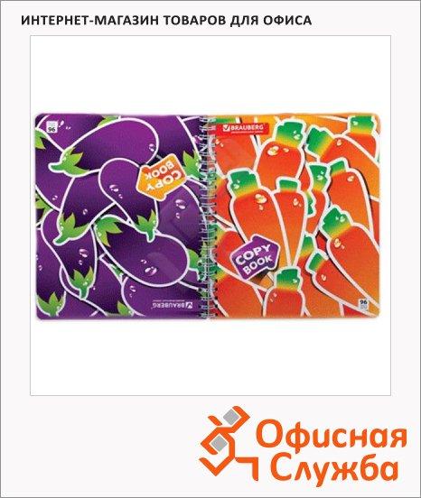 Тетрадь общая Brauberg Vitamins, A5, 96 листов, в клетку, на спирали, мелованный картон