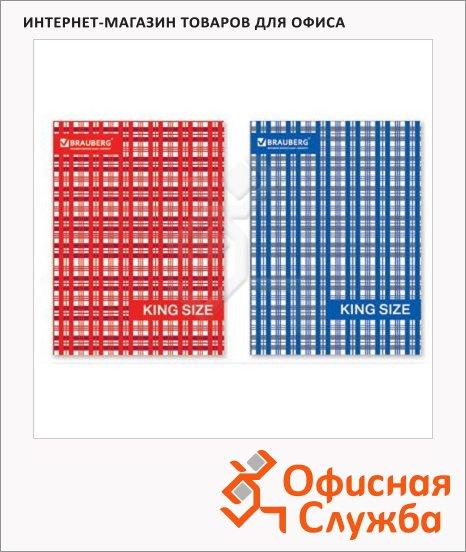 Тетрадь на кольцах Brauberg Шотландка, A5, 240 листов, в клетку, ламинированный картон