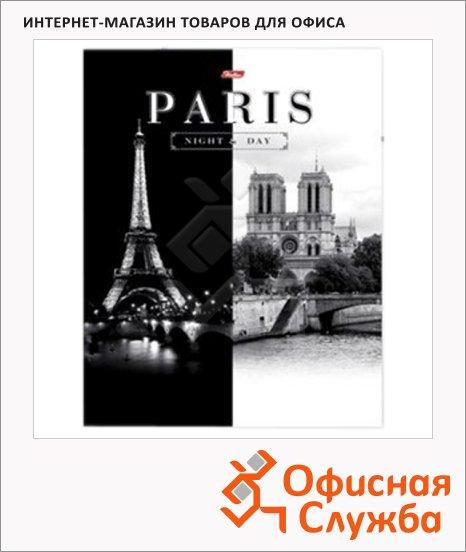 Тетрадь на кольцах Hatber Париж, А5, 120 листов, в клетку, ламинированный картон