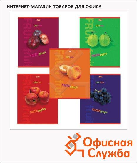 Тетрадь общая Hatber Fresh Fruit, А4, 80 листов, в клетку, на скрепке, мелованный картон/ лак
