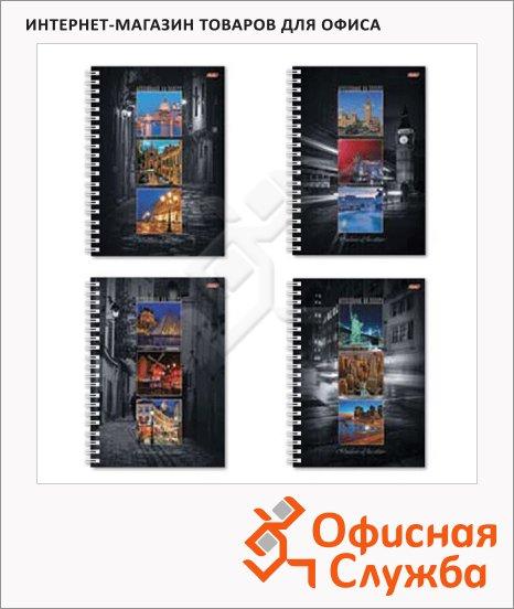 фото: Тетрадь общая Windows of the Cities A4, 96 листов, в клетку, на спирали, мелованный картон/ лак