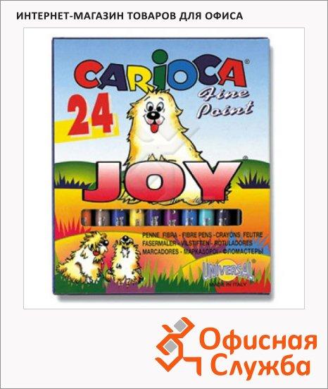 фото: Фломастеры для рисования Carioca Joy 24 цвета смываемые