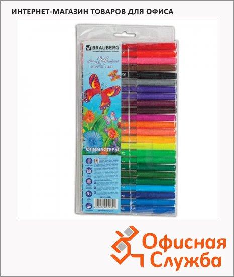 фото: Фломастеры для рисования Brauberg Butterfly 24 цвета смываемые