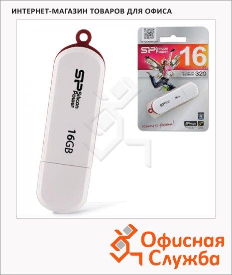 фото: Флеш-накопитель Silicon Power Luxmini 320 16Gb 10/5 мб/с, белый