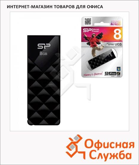 Флеш-накопитель Silicon Power Utima U03 8Gb, 10/5 мб/с, черный