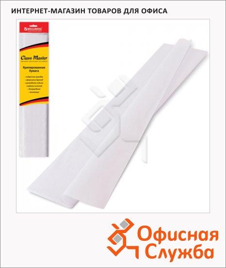 Бумага крепированная Brauberg белая, 50х200см, 25г/м, растяжение до 65%