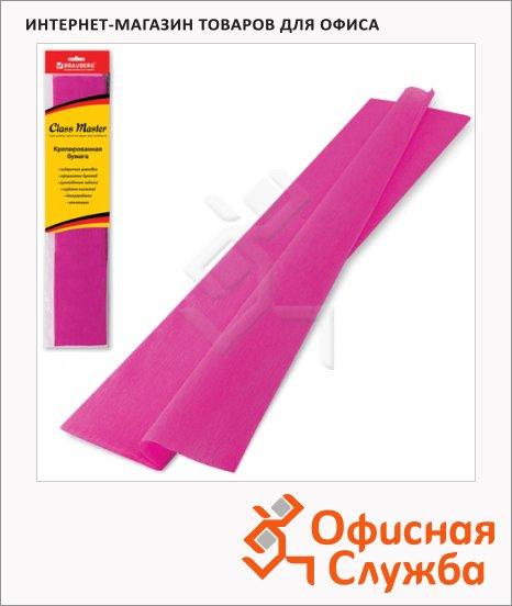 Бумага крепированная Brauberg темно-розовая, 50х200см, 25г/м, растяжение до 65%
