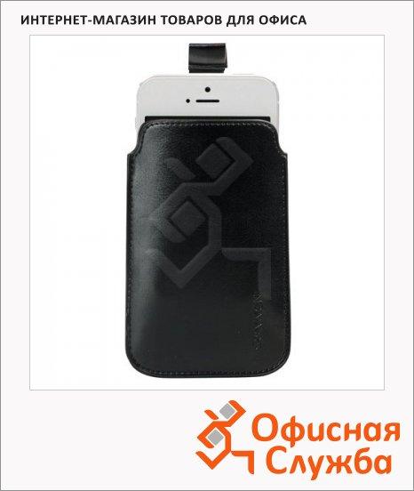 Чехол для мобильного телефона Sonnen Respect XL, черный, искусственная кожа