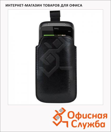 фото: Чехол для мобильного телефона Sonnen Respect M черный, искусственная кожа