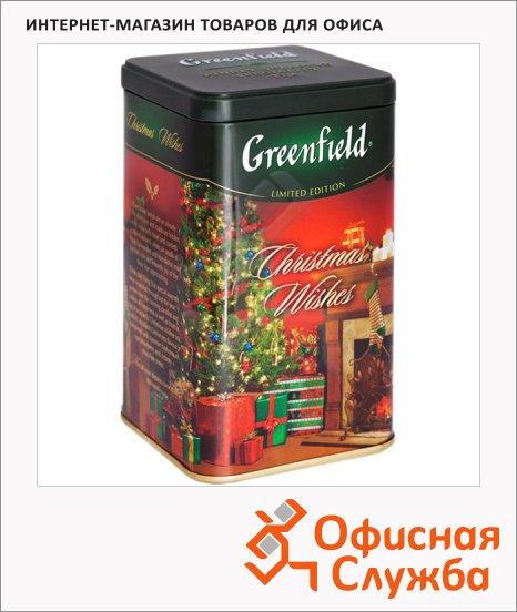 Чай Greenfield Christmas Wishes (Кристмас Вишес), черный, листовой, ж/б, 150 г