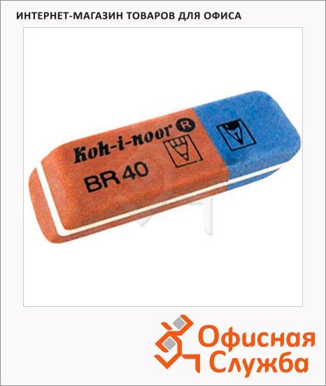 фото: Ластик Koh-I-Noor Blue Star BR 40 сине-красный, для карандаша и ручки