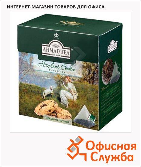 Чай Ahmad Hazelnut Cokie (Ореховое Печенье), черный, в пирамидках, 20 пакетиков