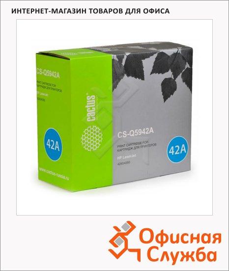 Тонер-картридж Cactus CS-Q5942A, черный, 10000 стр