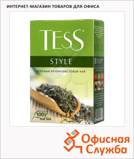 фото: Чай Tess Style (Стайл) зеленый, листовой, 100 г