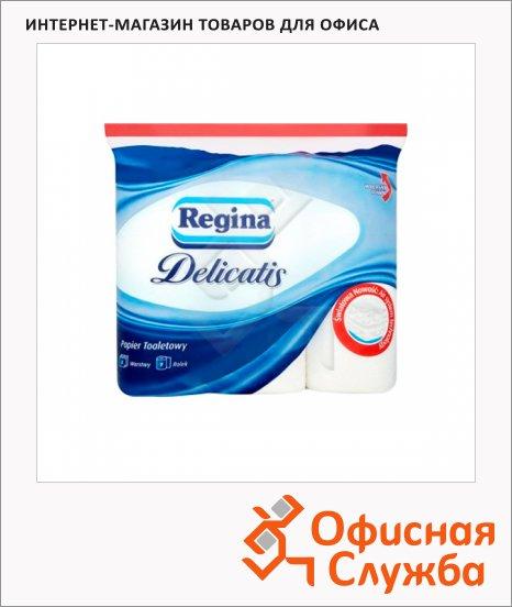 фото: Туалетная бумага Regina Delicatis без аромата белая, 4 слоя, 9 рулонов