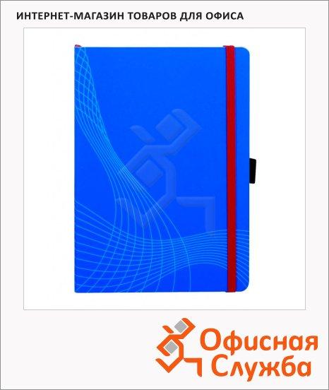 Блокнот Avery Zweckform Notizio Standard 7041, голубой, 210x150мм, 90г/м2, 80 листов, А5, в клетку, сатин