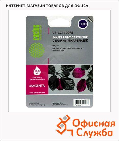 фото: Картридж струйный Cactus CS-LC1100M 16мл, пурпурный