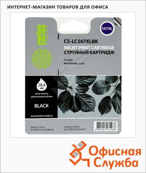 фото: Картридж струйный Cactus CS-LC567XLBK черный, 28.4мл