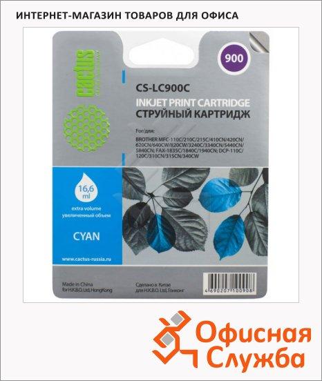 Картридж струйный Cactus CS-LC900C, голубой, 16.6мл