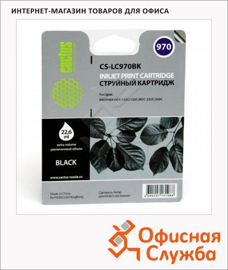 фото: Картридж струйный Cactus CS-LC970BK черный, 22.6мл