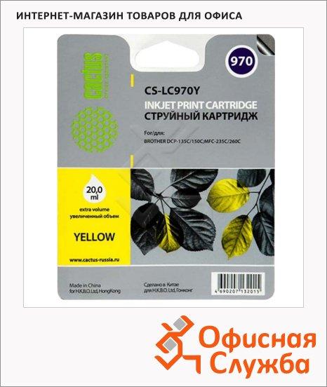 фото: Картридж струйный Cactus CS-LC970Y желтый, 20мл