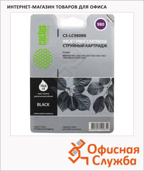 Картридж струйный Cactus CS-LC980BK, 15.6мл, черный
