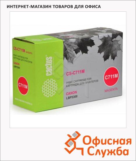 Тонер-картридж Cactus CS-C711M, 6000 стр, пурпурный