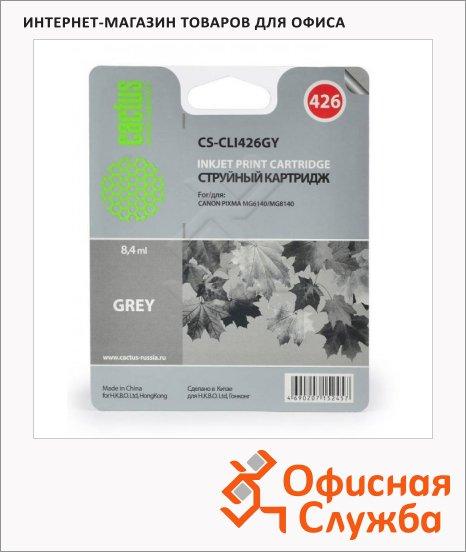 Картридж струйный Cactus CS-CLI426GY, серый, 8.4 мл