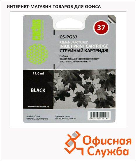 фото: Картридж струйный Cactus CS-PG37 черный, 11 мл