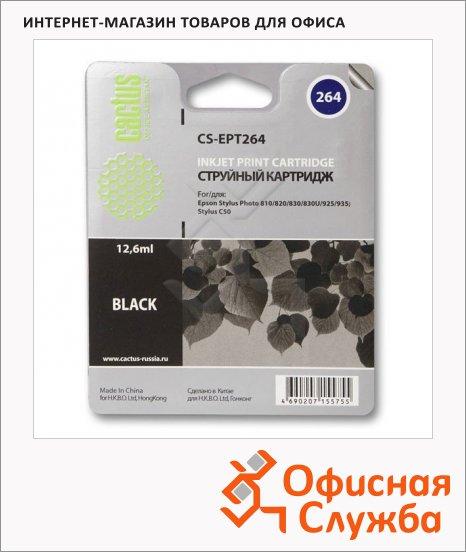 Картридж струйный Cactus CS-EPT264, черный, 12.6мл