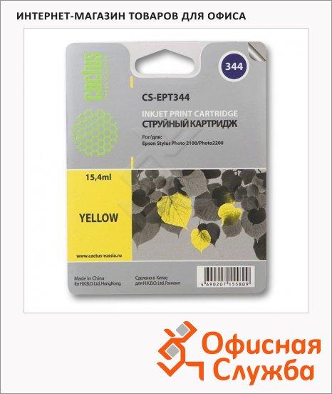 Картридж струйный Cactus CS-EPT344, желтый, 15.4мл