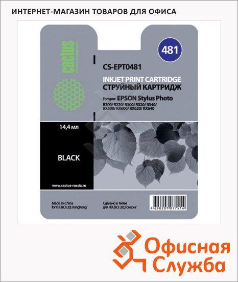 Картридж струйный Cactus CS-EPT0481, черный, 14.4мл