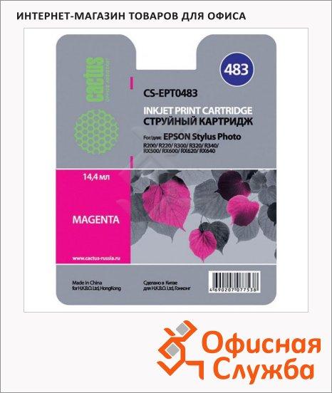 Картридж струйный Cactus CS-EPT0483, пурпурный, 14.4мл
