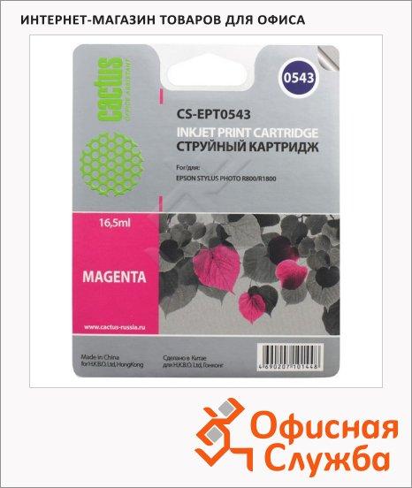 Картридж струйный Cactus CS-EPT0543, 16.2мл, пурпурный