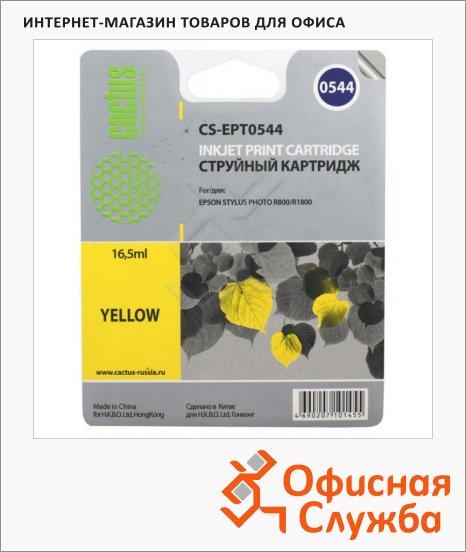 фото: Картридж струйный Cactus CS-EPT0544 16.2мл, желтый