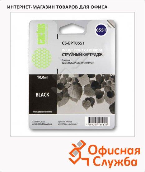 Картридж струйный Cactus CS-EPT0551, 10мл, черный