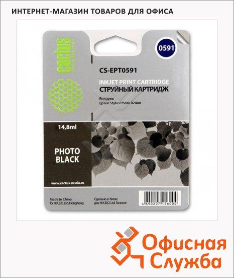 Картридж струйный Cactus CS-EPT0591, 14.8мл, черный