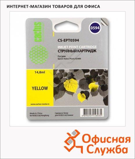 Картридж струйный Cactus CS-EPT0594, 14.8мл, желтый