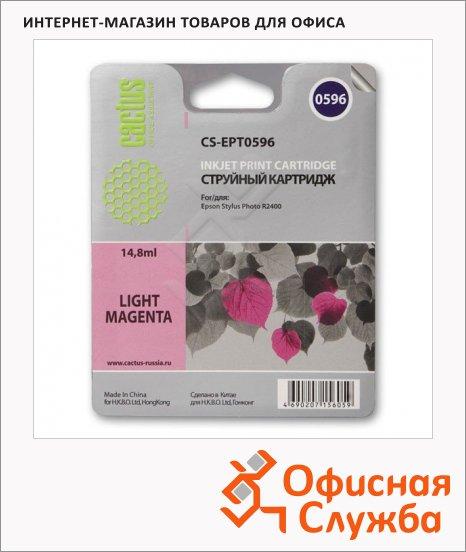 Картридж струйный Cactus CS-EPT0596, 14.8мл, светло-пурпурный