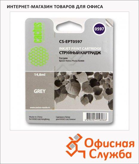 Картридж струйный Cactus CS-EPT0597, 14.8мл, серый