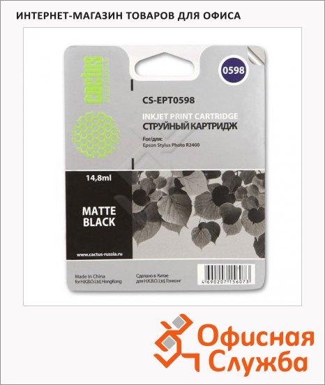 Картридж струйный Cactus CS-EPT0598, 14.8мл, черный матовый