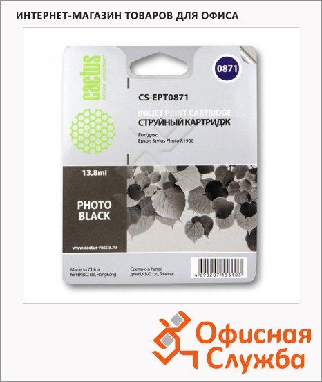 фото: Картридж струйный Cactus CS-EPT0871 13.8мл, черный