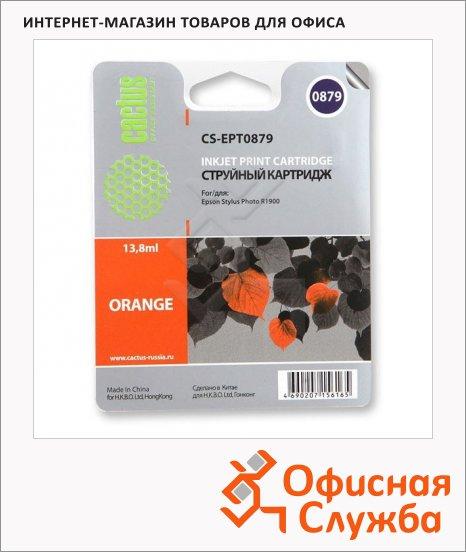 фото: Картридж струйный Cactus CS-EPT0879 13.8мл, оранжевый