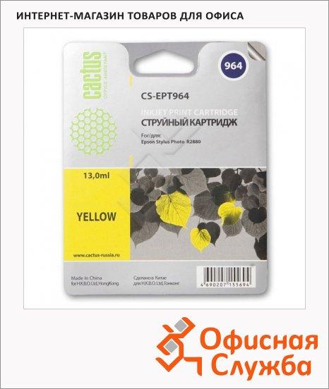 Картридж струйный Cactus CS-EPT964, 13мл, желтый